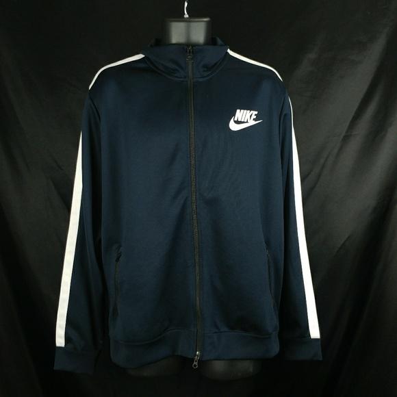 Nike Men s Zip Up Track Jacket Navy Blue. M 5b495678534ef9d5c798d7c1 a9dc77e49